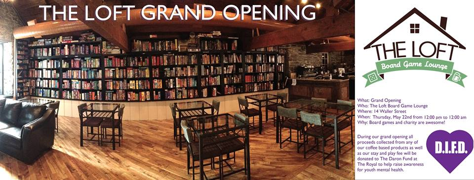 The Loft Board Game Lounge – Grand Opening, Thursday, May 22