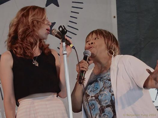 Rachel Price with Mavis Staples