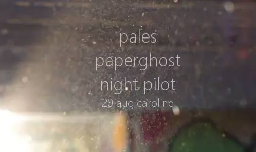 A Night with Wellington Gems: Pales, Paperghost, and night pilot