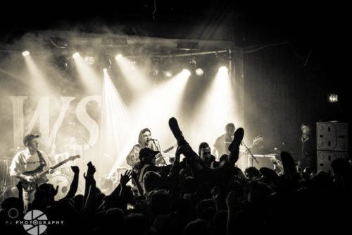 jaws sink their teeth into scala london photo essay  a crowd surfer heads towards the stage