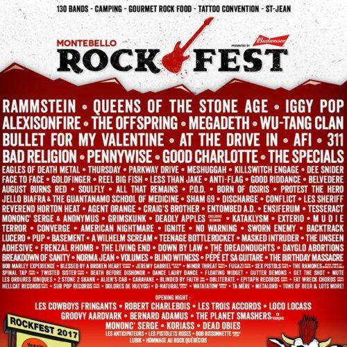 Preview Of Montebello Rockfest 2017 The Revue